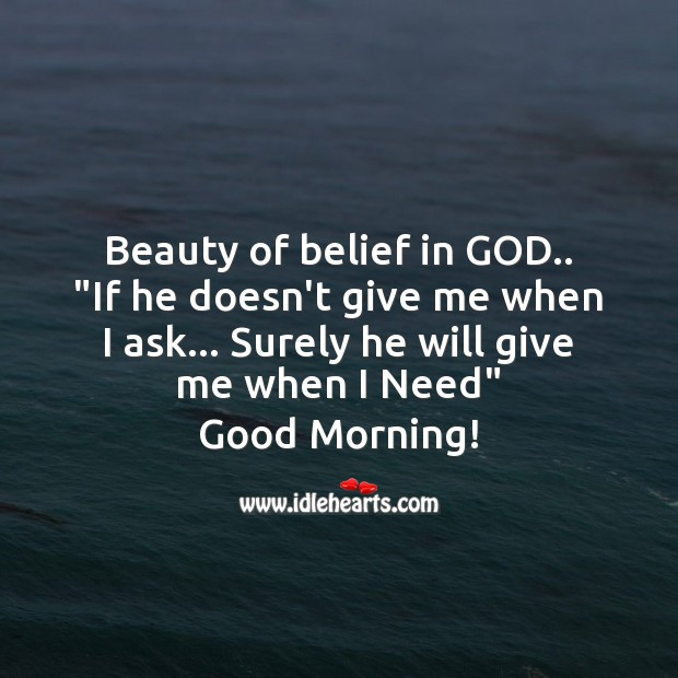 Image, Beauty of belief in God.