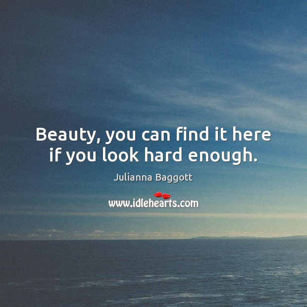 Beauty, you can find it here if you look hard enough. Julianna Baggott Picture Quote