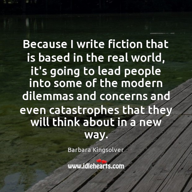 Because I write fiction that is based in the real world, it's Image