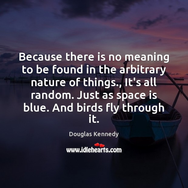 Because there is no meaning to be found in the arbitrary nature Space Quotes Image