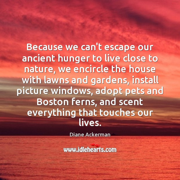 Because we can't escape our ancient hunger to live close to nature, Image