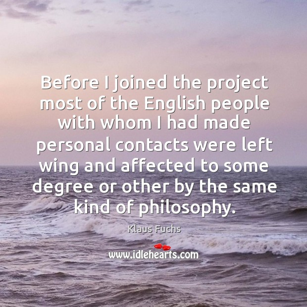 Before I joined the project most of the english people with whom I had made personal contacts Image