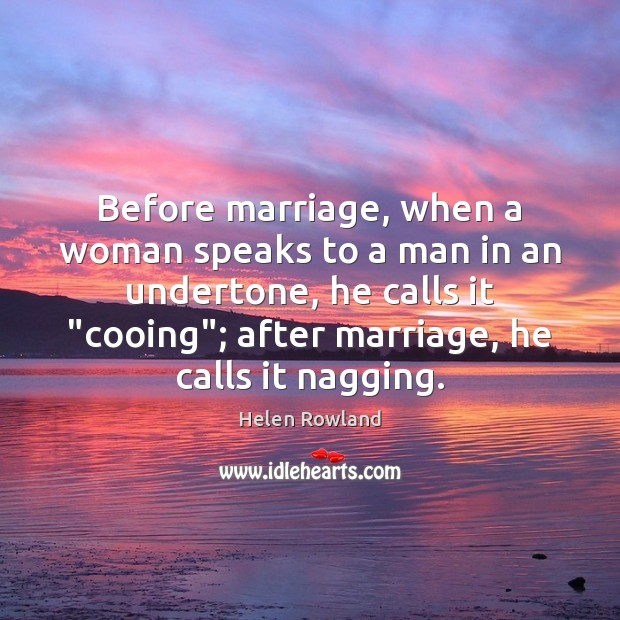Image, Before marriage, when a woman speaks to a man in an undertone,