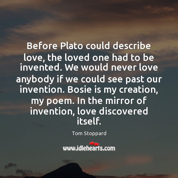 Before Plato could describe love, the loved one had to be invented. Image
