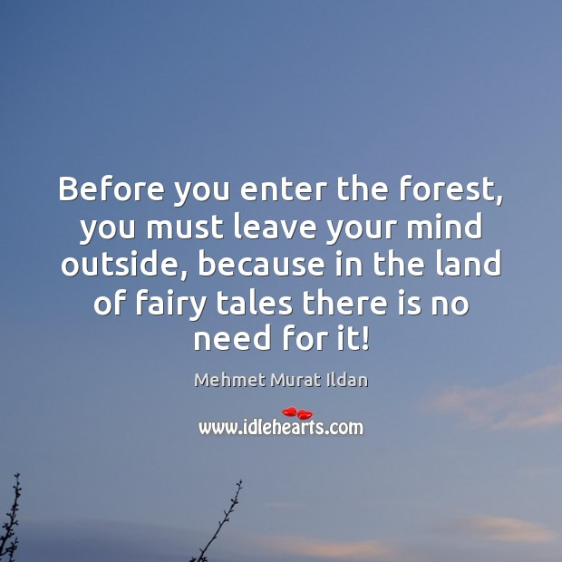 Image, Before you enter the forest, you must leave your mind outside, because
