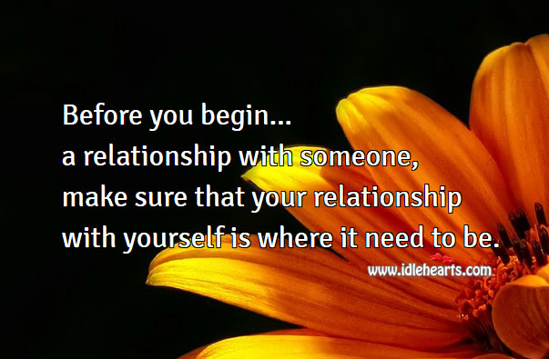 Image, Before you begin a relationship