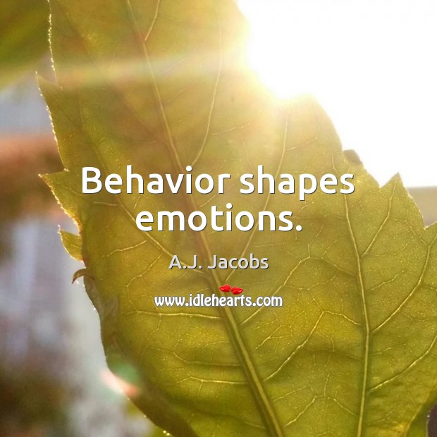 Image, Behavior shapes emotions.