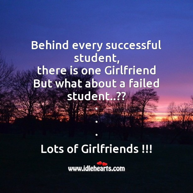 Behind every successful student Funny Messages Image