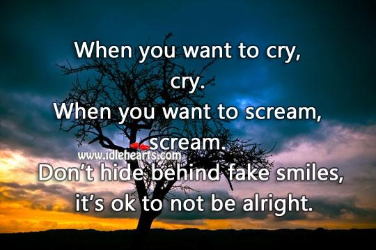 Don't Hide Behind Fake Smiles