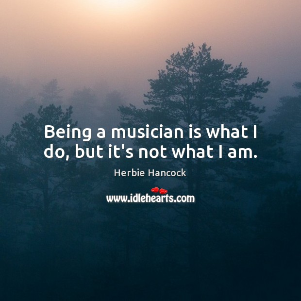 Image, Being a musician is what I do, but it's not what I am.