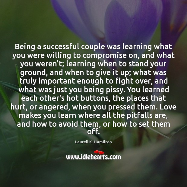 Image, Being a successful couple was learning what you were willing to compromise
