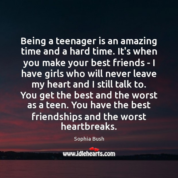 Being a teenager is an amazing time and a hard time. It's Image