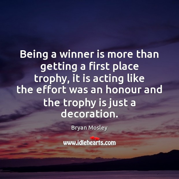 Image, Being a winner is more than getting a first place trophy, it