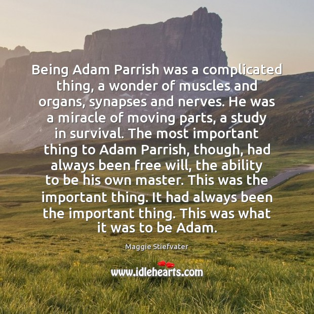 Image, Being Adam Parrish was a complicated thing, a wonder of muscles and