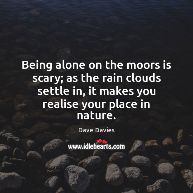 Being alone on the moors is scary; as the rain clouds settle Image