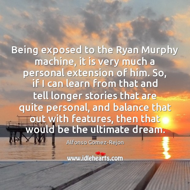 Image, Being exposed to the Ryan Murphy machine, it is very much a