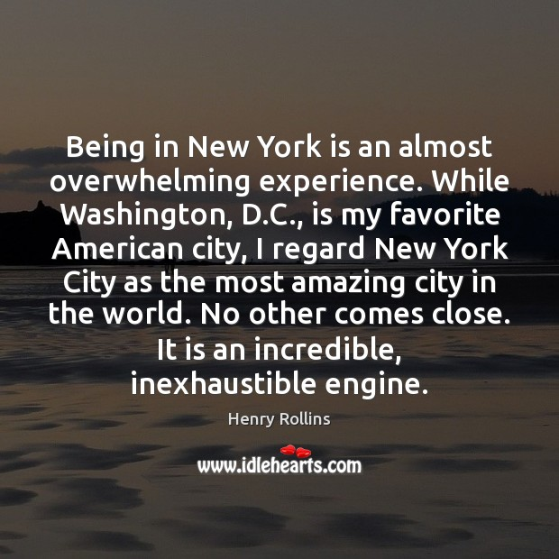 Image, Being in New York is an almost overwhelming experience. While Washington, D.