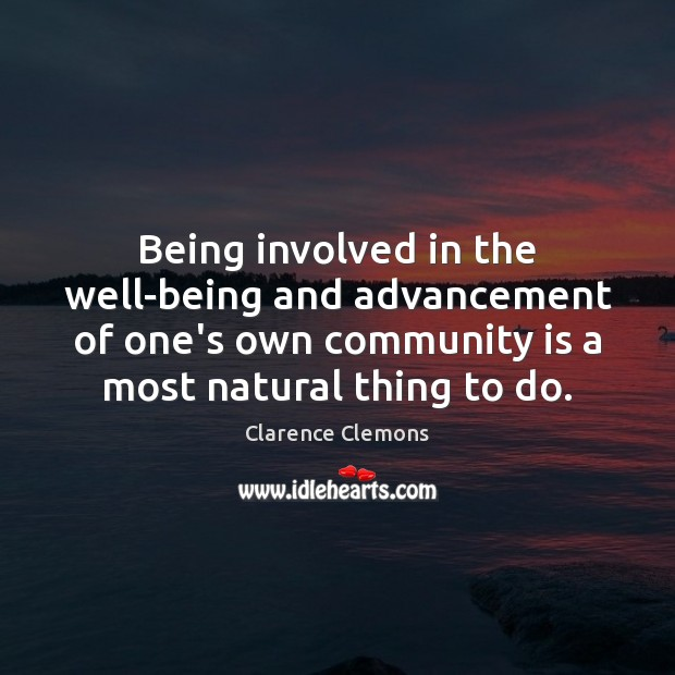 Being involved in the well-being and advancement of one's own community is Image