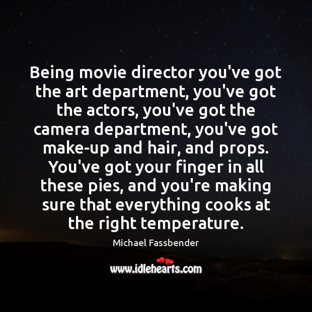 Being movie director you've got the art department, you've got the actors, Image