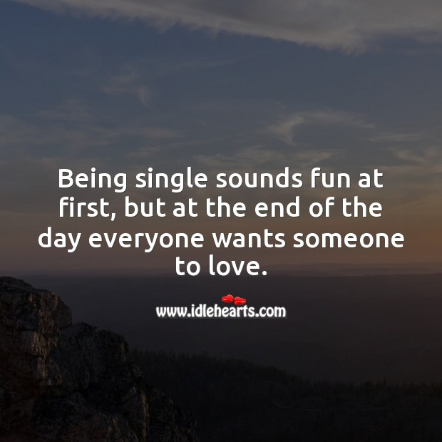 Being single sounds fun Image
