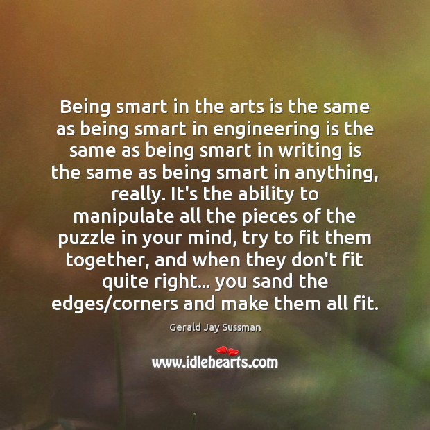 Being smart in the arts is the same as being smart in Image
