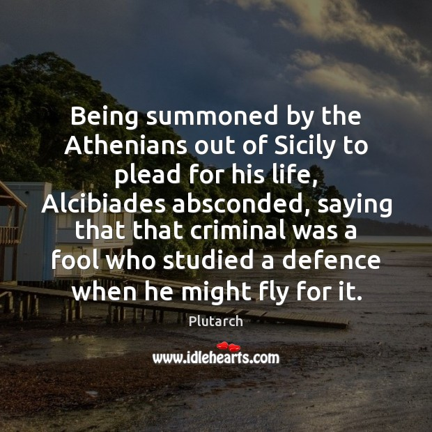 Image, Being summoned by the Athenians out of Sicily to plead for his
