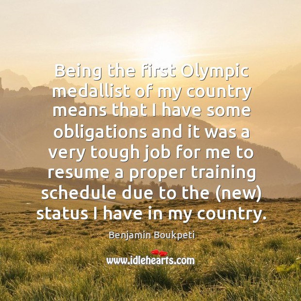 Image, Being the first Olympic medallist of my country means that I have