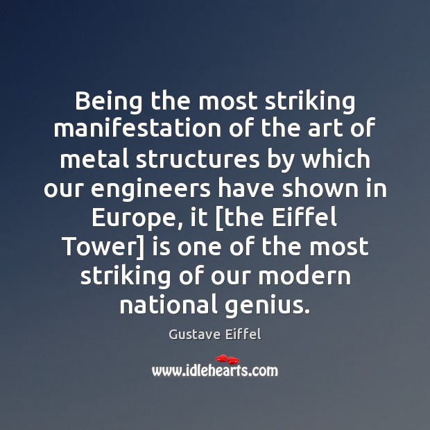 Being the most striking manifestation of the art of metal structures by Image