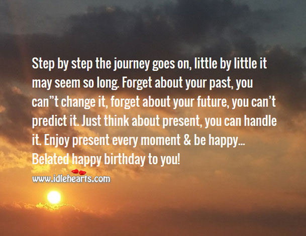Enjoy every moment & be happy Image