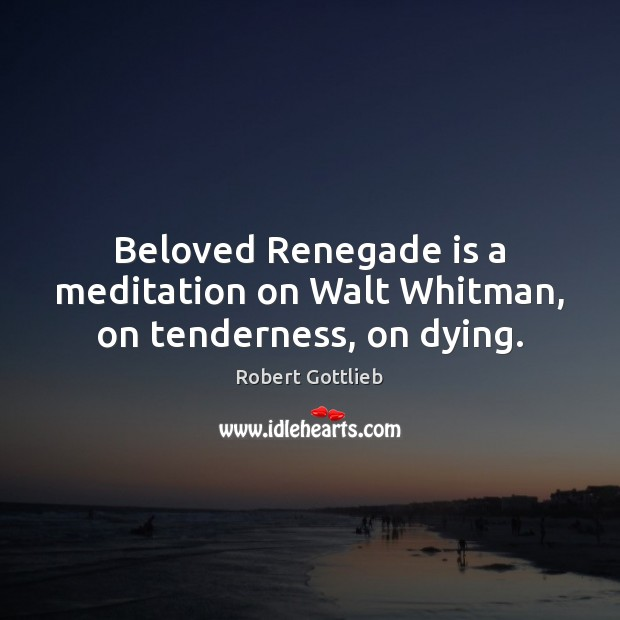 Image, Beloved Renegade is a meditation on Walt Whitman, on tenderness, on dying.
