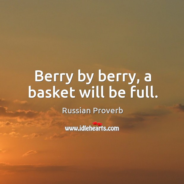 Image, Berry by berry, a basket will be full.