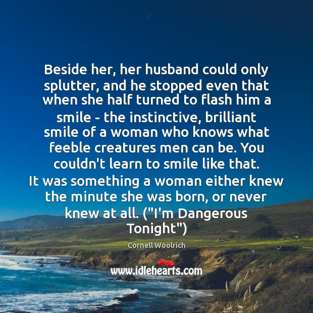 Beside her, her husband could only splutter, and he stopped even that Image