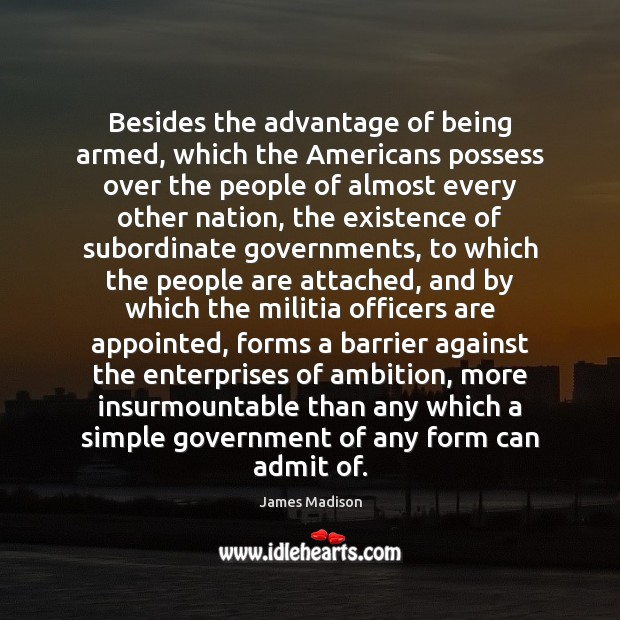 Image, Besides the advantage of being armed, which the Americans possess over the