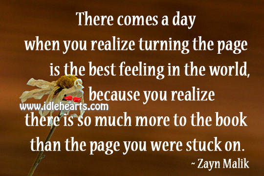 There comes a day when you realize turning the page Image