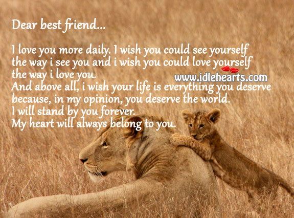 Wish I Could See You Quotes: My Heart Will Always Belong To You, My Best Friend