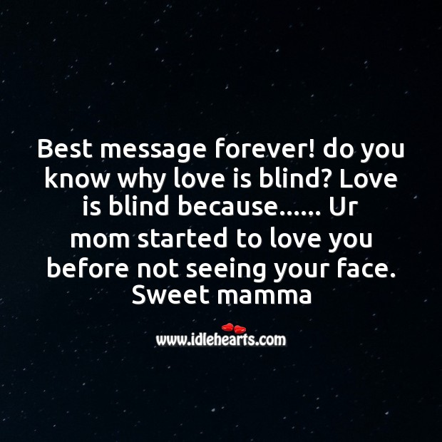 Best message forever! Mother's Day Messages Image