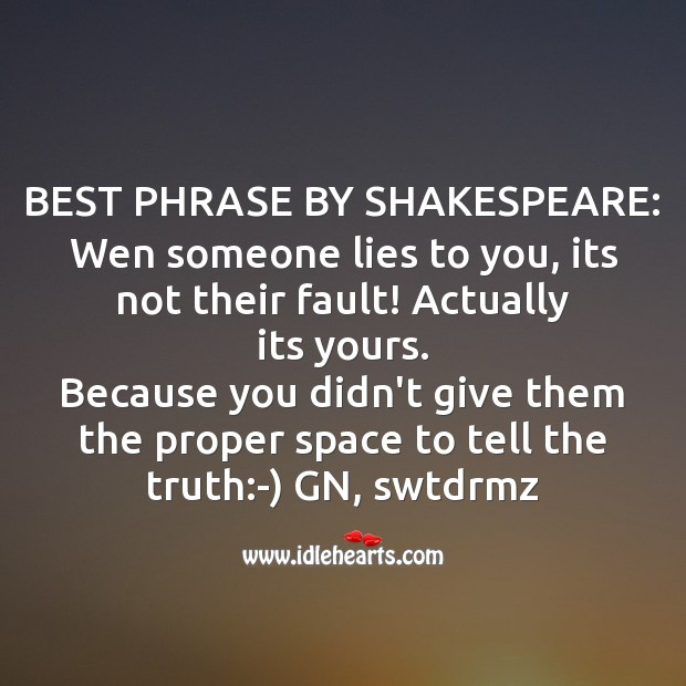 Best phrase by shakespeare Good Night Messages Image