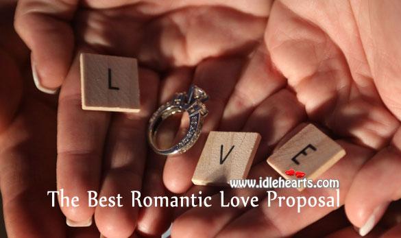 The best romantic love proposal Articles Image