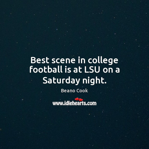 Image, Best scene in college football is at LSU on a Saturday night.