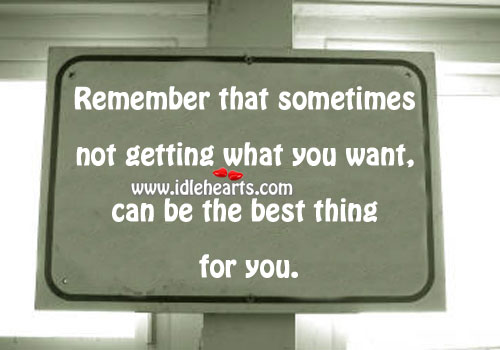 The Best Thing For You