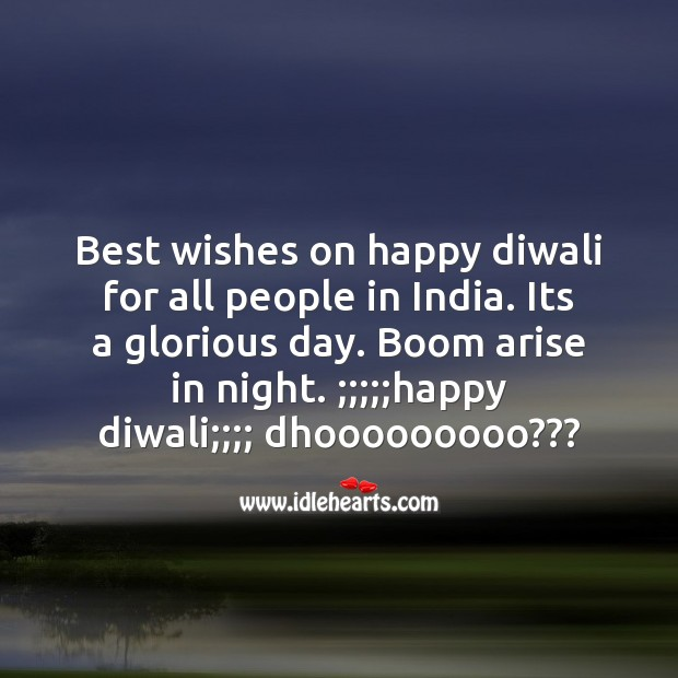 Best wishes on happy diwali Diwali Messages Image