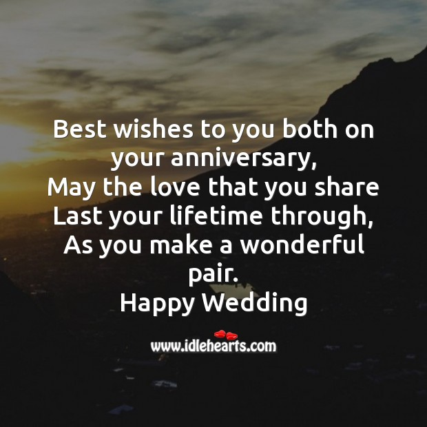 Best wishes to you both on your anniversary Image