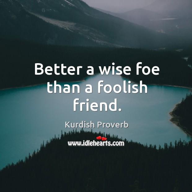 Image, Better a wise foe than a foolish friend.