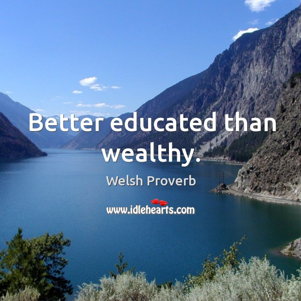 Image, Better educated than wealthy.