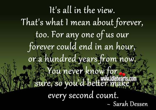 It's All In The View. That's What I Mean About Forever, Too.