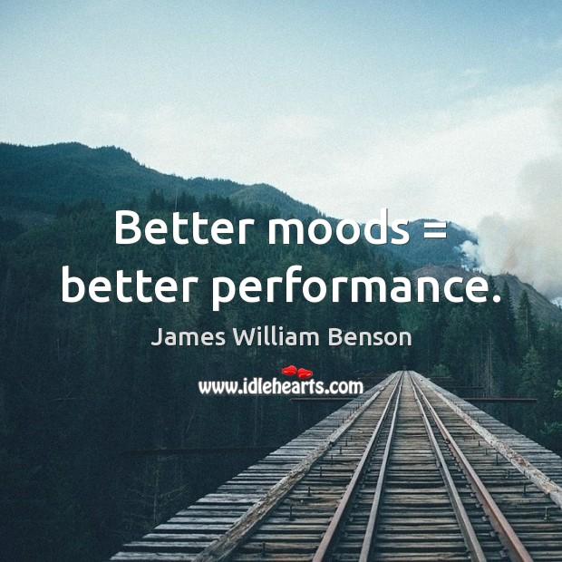 Better moods = better performance. Image