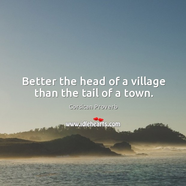 Image, Better the head of a village than the tail of a town.