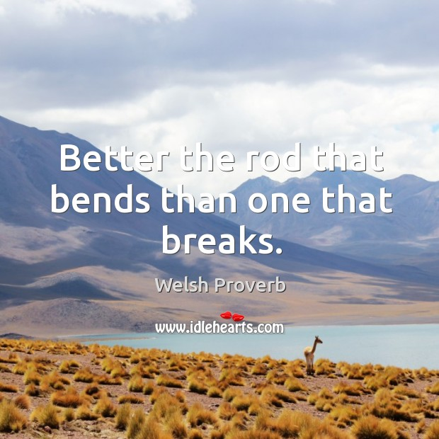 Image, Better the rod that bends than one that breaks.
