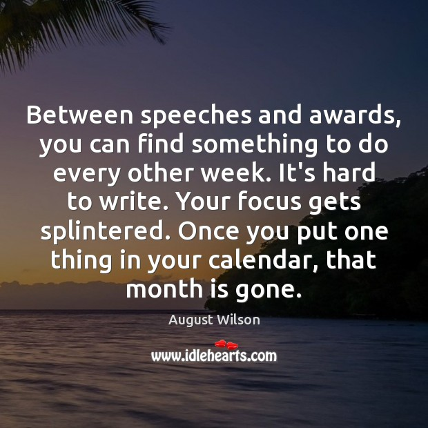 Image, Between speeches and awards, you can find something to do every other