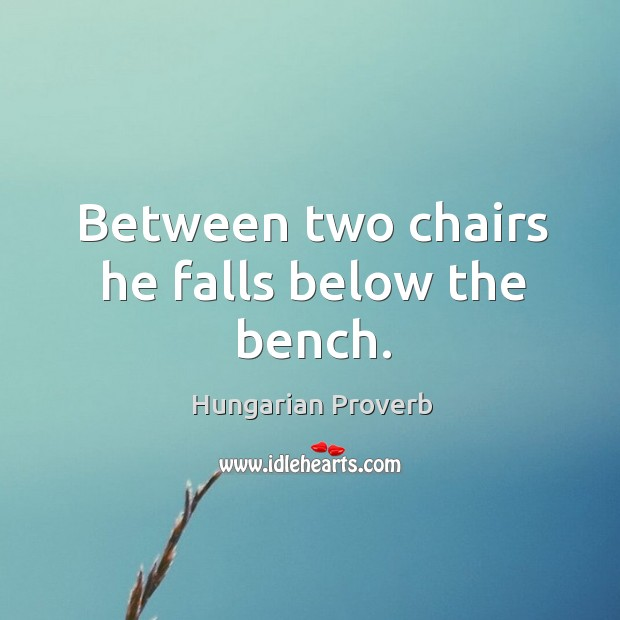 Image, Between two chairs he falls below the bench.